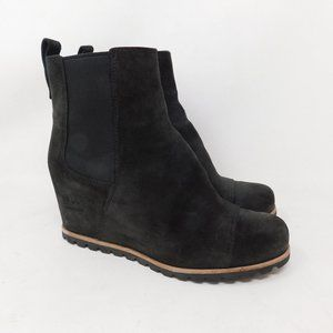 UGG Gray Suede Wedge Ankle Boots Booties 8.5